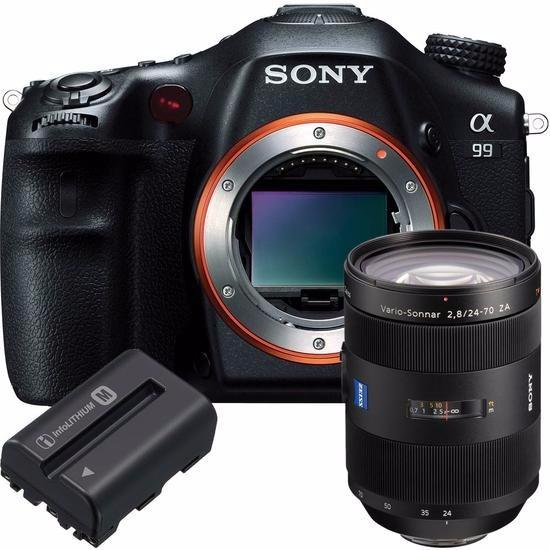 Câmera Digital Sony Alpha Slt-a99v + Kit Lente Sal24-70/bate