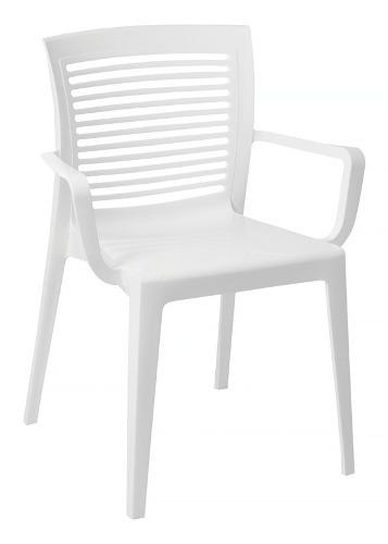 Imagem 1 de 3 de Cadeira Plástico Victoria Vazad Branca Tramontina 92042010