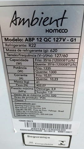 Motor Com A Base Do Ar Condicionado Komeco