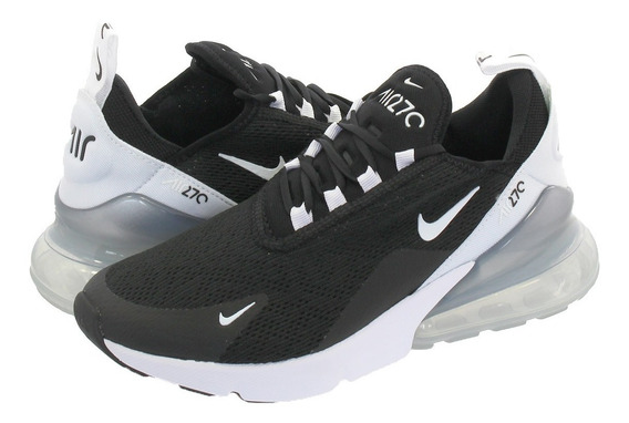 Tênis Nike Air Max 270 Black White Feminino.