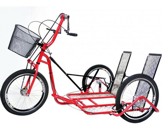 Triciclo Manual Para Cadeirantes Com Rampa Altmayer Tricad