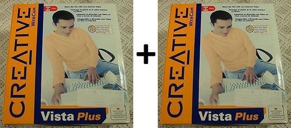 Kit 2 Webcam Vista Creative Novas, Na Embalagem