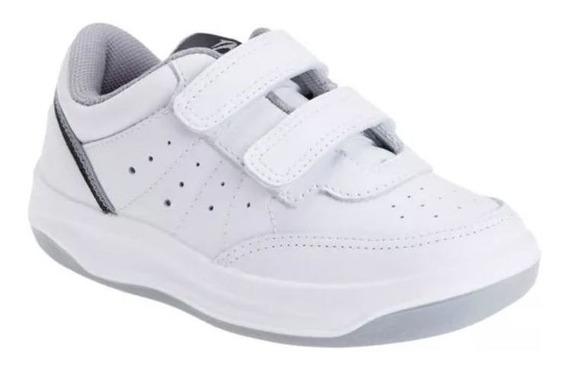 Zapatillas Topper X-forcer Kids Velcro - Blanco/gris-23589