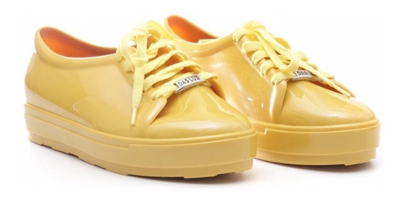 Zapatillas Dama De Goma Con Cordones
