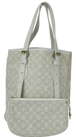 Bolsa Louis Vuitton Mini Lin Bucket Off White Original