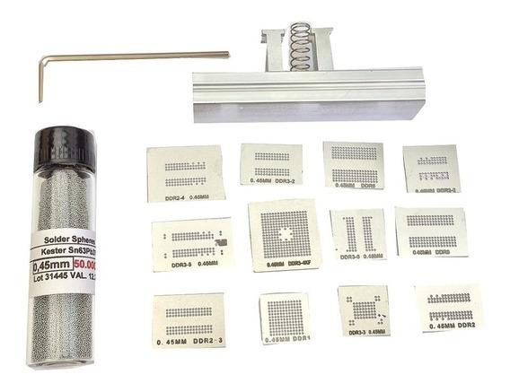 Kit Stencil Memoria Ddr3 Calor Direto Suporte Esferas 0,45