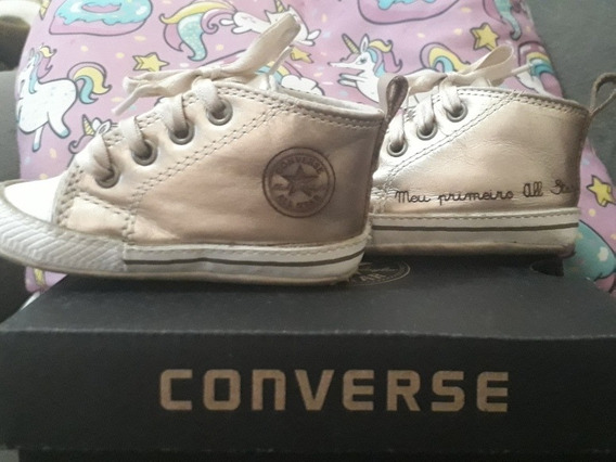 All Star Converse Original Infaltil Cor Ouro Branco