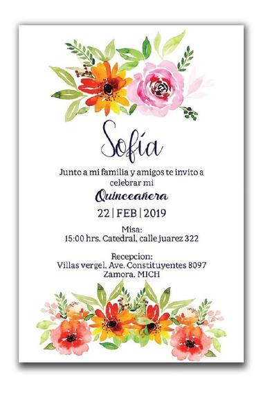 Invitaciones De Xv Años Para Imprimir En Mercado Libre México