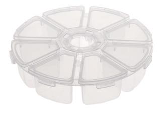1pc Ronda De Plástico 8 Rejillas Caja De Almacenamiento De