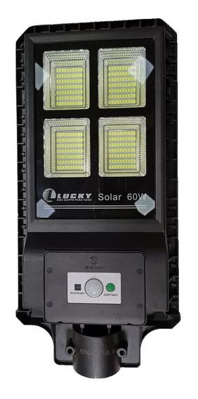 Kit 2 Refletor Luminária Pública Poste Solar 60w C Sensor
