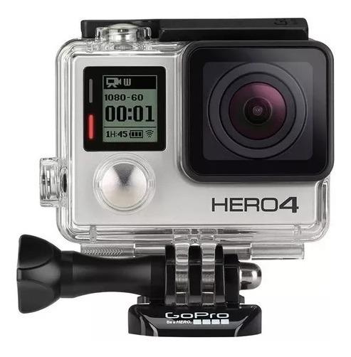 Gopro Hero 4 Silver 12mp 4k + Carregador + Dome + Acessórios