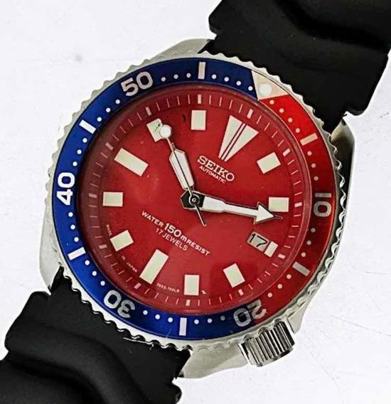 Relógio Seiko Diver 94 Classic 7002 Prata Esterlina Pepsi