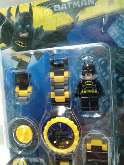 Relógio Infantil Super Herói Batman Com Peças Para Montar