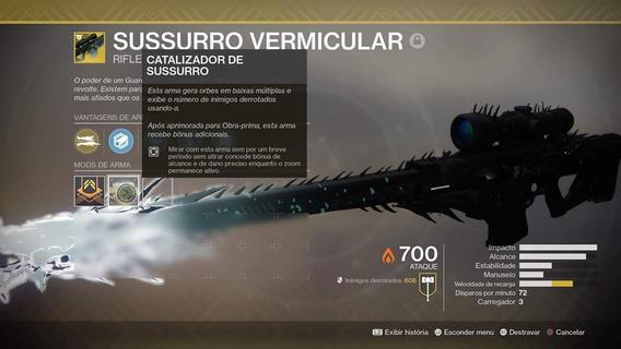 Destiny 2 Ps4 - Sussurro + Catalisador 100% + Nave