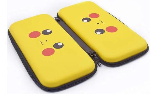 Estuche Nintendo Switch Pikachu Smile Carrry Rigido Viajero