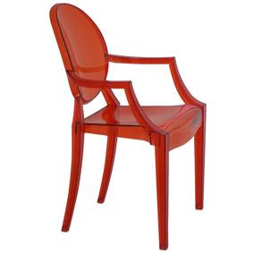 Cadeira Com Braço Ghost Vermelha