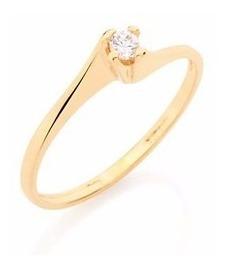 Anel Solitário Para Noivado E Casamento Joia Rommanel 510516
