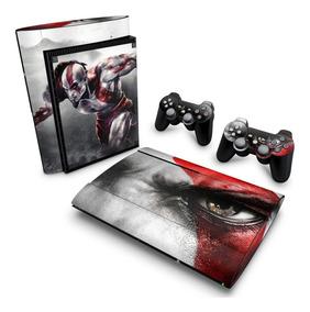Adesivo Ps3 Super Slim Skin Playstation 3 God Of War