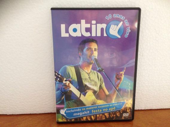 Dvd Latino - 10 Anos Ao Vivo