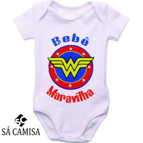 Body Em Ribana Personalizado Bebe Maravilha