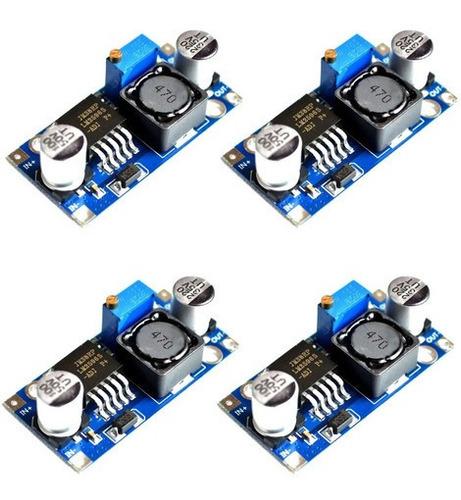 Imagem 1 de 5 de Kit 4x Lm2596 Conversor Regulador Tensão 3a Step Down