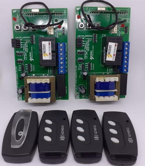 Kit 2 Centrais Acton Ac4 Fitpaencoder E 4 Controles 3 Teclas