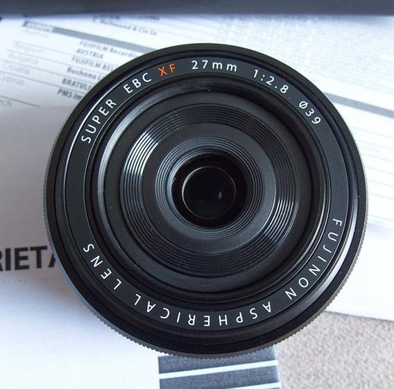 Lente Fujifilm Fuji 27mm F/2.8, Pancake, Prime, Como Nova
