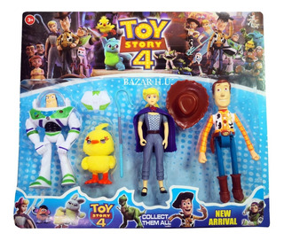 Toy Story 4 Hermoso Set Por 4 Personajes