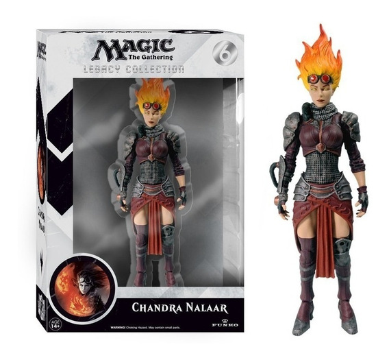 Magic The Gathering Legacy Action Figure - Chandra Nalaar 4