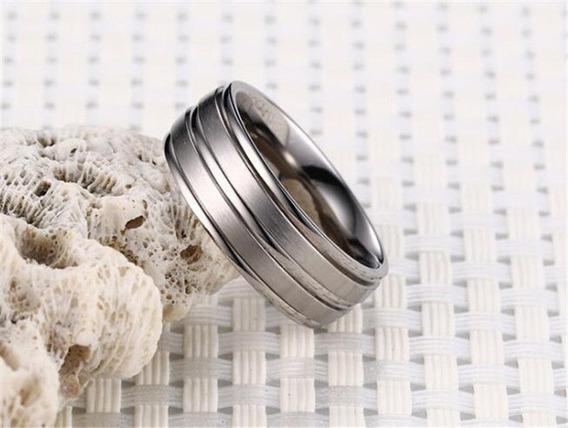 Anel Aliança Aço Prata - Casamento, Noivado Presente