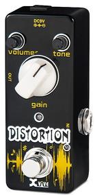 Pedal De Distorção Xvive Para Guitarra V2 Distortion Preto