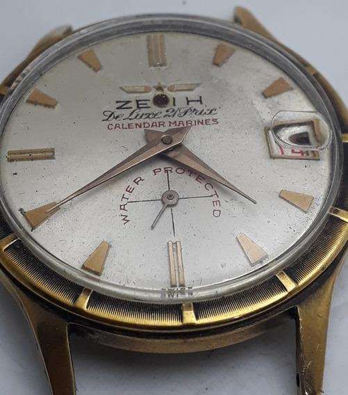 Relógio Zeoih Corda Manual Raríssimo