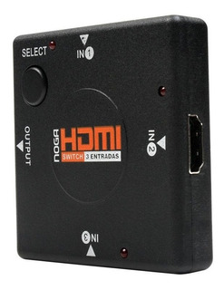 Data Switch Hdmi Noganet 3 Hdmi In 1 Hdmi-sw3 Manual 1080p