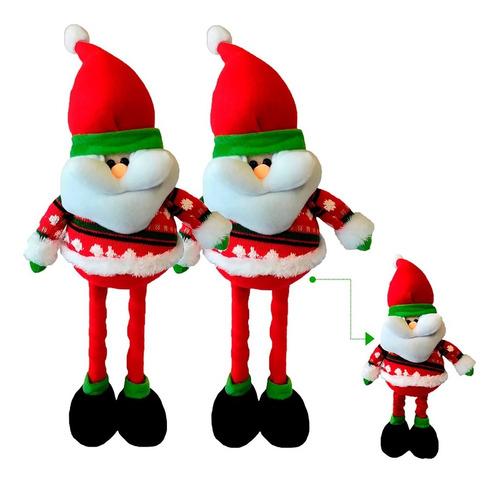 Imagen 1 de 3 de Muñeco Navidad Patas Largas X2 50 Cm