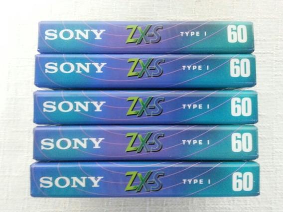 Lote 5 Fitas Cassete Sony Zx-s 60 Minutos Lacradas