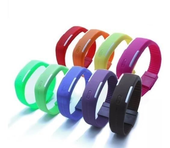 Reloj Pulsera Led Touch Económico Varios Colores Digital