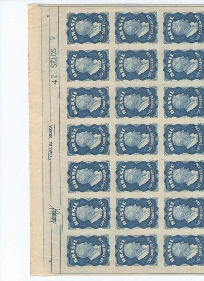 Folha Completa A-73 Com 42 Selos Roosevelt - Vale R$.930,00