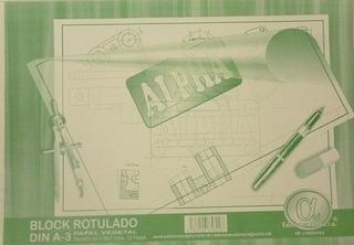 Block Rotulado Papel Vegetal Din A3 (dibujo Tecnico)