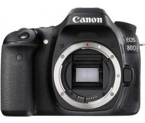 Câmera Canon Eos 80d Corpo Nova Com 1 Ano De Garantia + Nfe