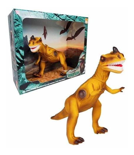 Dinossauro T - Rex Emite Som - Brinquedo Criança - Amarelo