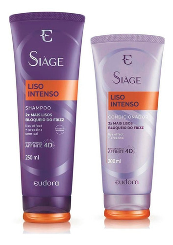 Imagem 1 de 3 de Siáge Liso Intenso Eudora - Shampoo+condicionador