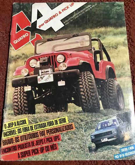 Revista 4x4 & Pick Up N1 1983 O Jeep A Álcool