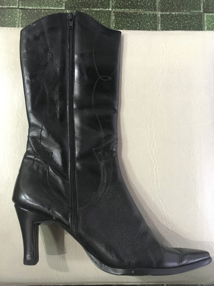 Z31 Liquido Botas Ossira Cuero Negras Talle 37 Impecables