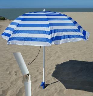Sombrilla Playa. Poliester Aluminizado 2.00mts Playa Jardin