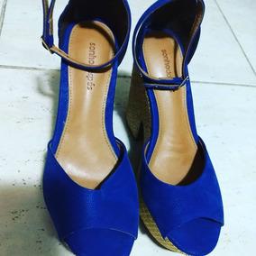 Sapato Azul Usado