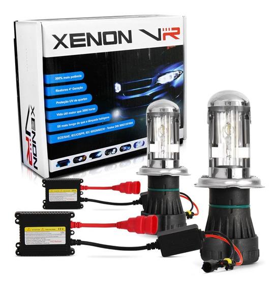 Kit Lampada Bi Xenon Farol H4-3 6000k