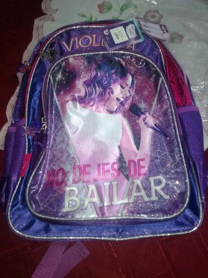 Mochila Violetta Disney Original Nueva!!!