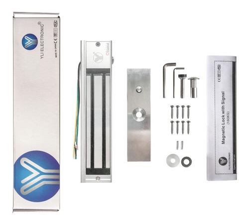 Cerradura Electromagnética Yli 300lbs/180kg Led,sensor 12vcc