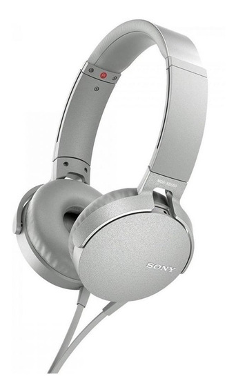 Fone de ouvido Sony EXTRA BASS MDR-XB550AP branco