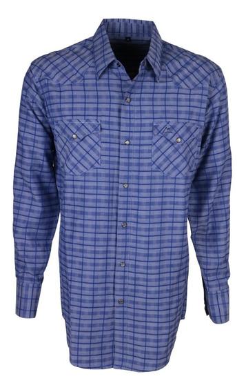 Camisa Vaquera Icy Denver Chh026 Cuadros Azul